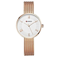 Women Watches Top Brand Luxury Golden Mesh Strap Bracelet Quartz Watch Lady Fashion Dress Wristwatch