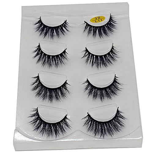 48fd29e14f0 Generic 2/4 pairs natural false eyelashes fake lashes long makeup 3d mink  lashes eyeextension mink eyelashes for beauty(L11)
