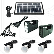 Complete Solar Kit with LED Lights and Phone Multi Charger