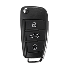 3 Button Remote Key Fob Case Shell +Battery Switch For AUDI A1 S1 A3 A6 A8 TT Q3