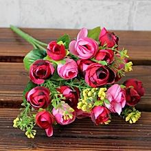 Artificial Flower Artificial Bouquet Flowers Home Decoration  Flowers-hot pink