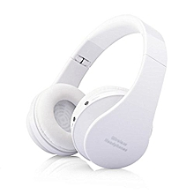Foldable Wireless Headphone ,Bluetooth Stereo Headset(White)