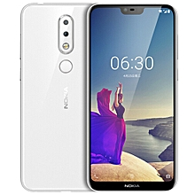 "Nokia X6 4G 5.8"" 4GB RAM + 64GB ROM Android 8.1 Fingerprint Sensor Face ID - White"