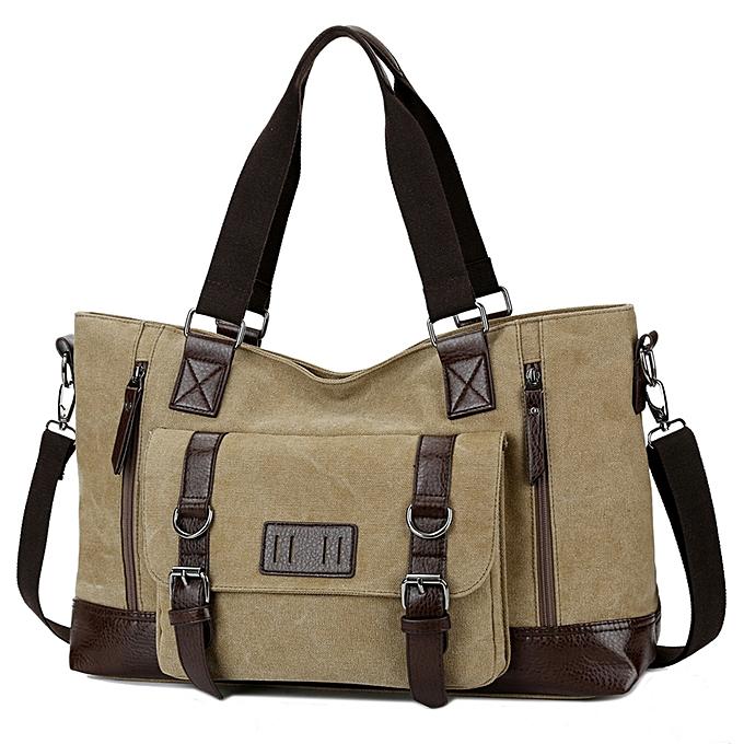 889cc5860 ... New Men Vintage Canvas Travel Shoulder Bags Lagre Capacity Messenger  Bag Men Duffel Bags Travel Tote ...