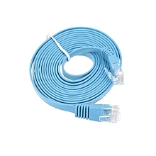 High Quality 3.0m/9.84ft Blue High Speed Cat6 Ethernet Flat Cable RJ45 Computer LAN Internet Network Cord