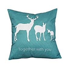 45cm*45cm Deer Cotton Linen Pillowcase Throw Pillow Houseware Pillow Cushion