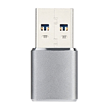 GB Mini Aluminum Alloy Shell Card Reader USB Type Micro-USB & Combination-silver