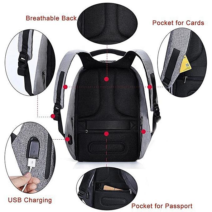 Generic Anti Theft Hidden Usb Port Laptop Smart Backpack