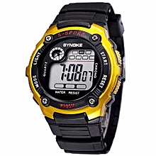 Kids Watches Children LED Digital Watch Girls Wrist Watch Boys Clock Child Sport Digital-watch For Girl Boy Surprise Gift(Gold)