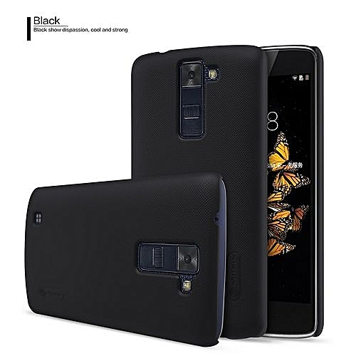 NILLKIN FROSTED CASE LG K10 COKLAT FREE SCREEN PROTECTOR. Super Frosted Shield Executive Case for LG K10 - Black