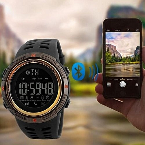 Skmei 2017 NEW Men's Smart Sport Watch New SKMEI Brand Bluetooth Calorie Pedometer Fashion Watches Men 50M Waterproof Digital Clock Wristwatch 1250 ( Intl) ...