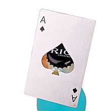 Playing Cards Spades A Design Stainless Steel Beer Bottle Opener-White
