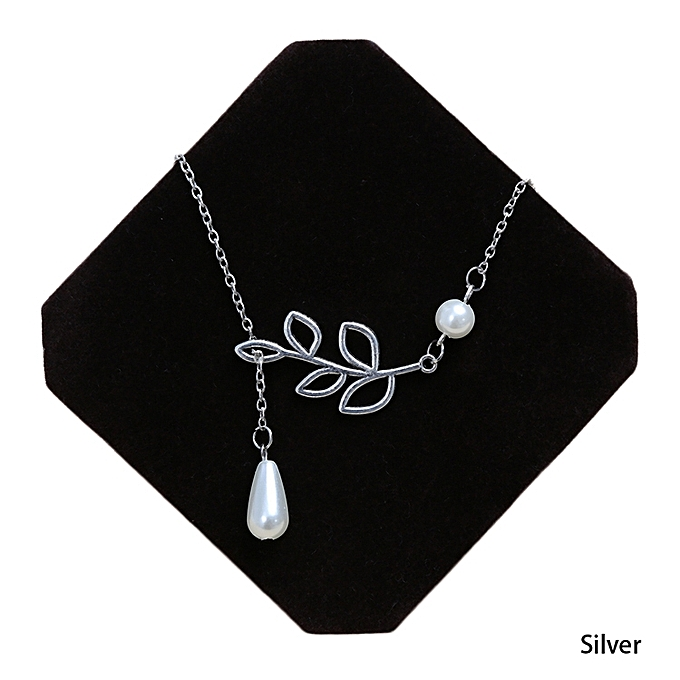 Buy fashion hot sale new fashion chain length about 53cm leaves hot sale new fashion chain length about 53cm leaves short necklace elegant classical silver plated romantic mozeypictures Image collections