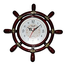 Helm Wall Clock - Brown