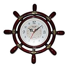 Helm Wall Clock - Brown
