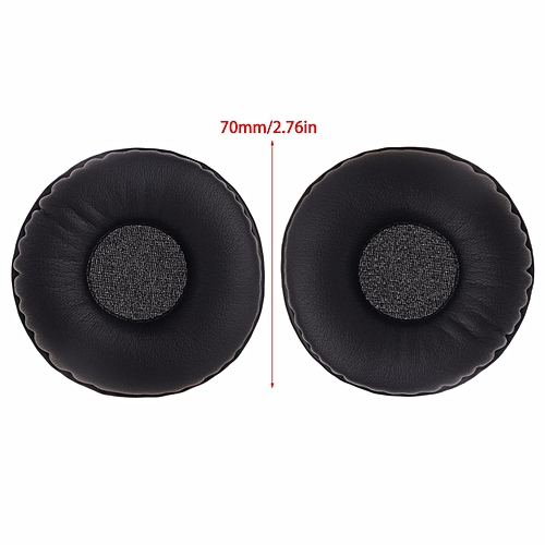 192f5a25dea00d Generic 1 Pair Replacement Faux Leather Sponge Ear Pads Cushions For Headphone  Headset 70mm (Black) WKMALL