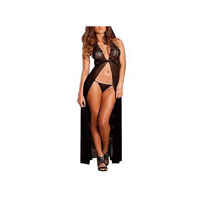 494199fd46 Women Sexy Lingerie Babydoll Sleepwear Underwear Long Dress Nightwear Briefs
