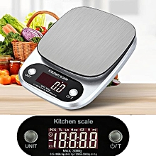 Technologg Electronic Scale   Digital Kitchen Scale Balance Slim Stainless Steel Electronic Scales-Silver
