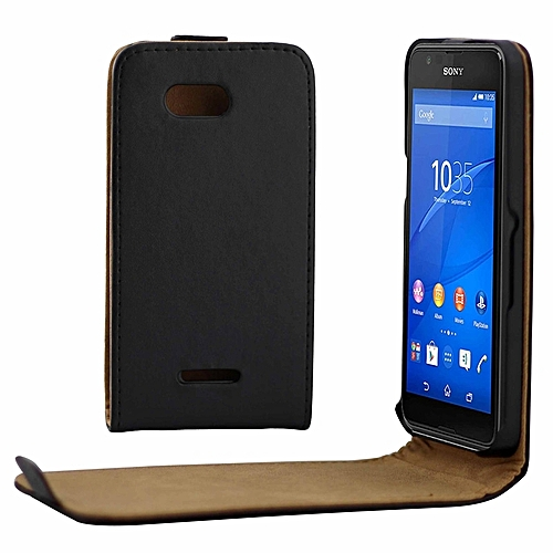 online retailer 7ec67 9991f Vertical Flip Magnetic Button Leather Case For Sony Xperia E4g(Black)