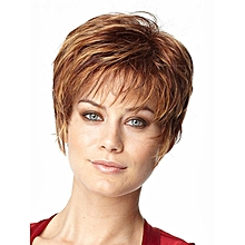 Women's Natural Brown Red Hair Wig Short Cosplay Wigs