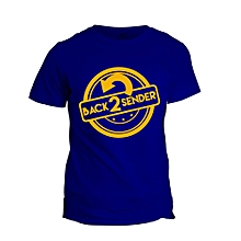 Back To Sender Royal Blue Printed T-Shirt Design