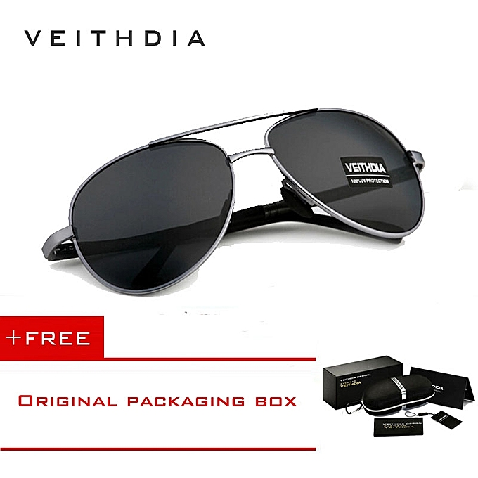3eedc9d39f332 VEITHDIA Mens Polarized Sunglasses Sun Glasses Alloy Frame Driving Outdoor Sport  Oculos De Sol Masculino 1306Gold