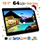 10.1 Inch Tablet PC RAM 4G ROM 64G Dual Card Camera Black