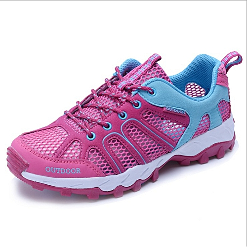 0a7a9b84f766 Fashion Ladies outdoor walking shoes mesh cloth hollow water shoes ...