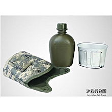 New Arrival US Single-soldier Camouflage Water Bottle Three-piece Camp Mountaineering-03