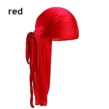 Silk Long Tail Scarf Cap Men's Satin Durags Bandanna Turban Wigs Men Silky Durag Headwear Pirate Hat Hair Accessories
