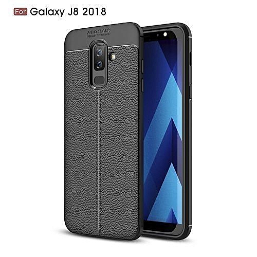 online store 96550 cd1d5 Samsung Galaxy J8(2018) Silicone Case, Litchi Pattern TPU Anti-knock Phone  Back Cover For Samsung Galaxy J8(2018) - Black.