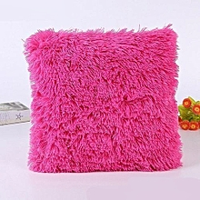 Fluffy Pillow Cover / Throw Pillow Cover / Sofa Pillow Cover / Seat Pillow Cover  18'' x 18'' - Pink