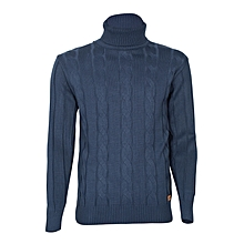 Uniform Blue Turtle Neck Sweater