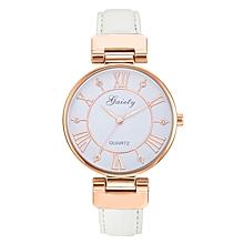 G449 Fashion Roman Numeral Ladies Watch-WHITE