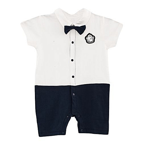 Cute Baby Bowknot cool short Sleeve Romper Jumpsuit+ a FREE pair of socks