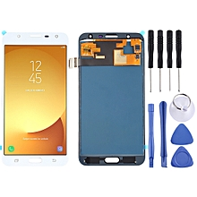 LCD Screen and Digitizer Fullembly (TFT Material ) for Galaxy J7 Neo, J701F/DS, J701M(White)