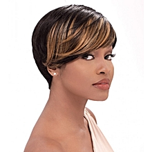 Human Hair Bump Collection Wig Fab Fringe - Colour Caramel
