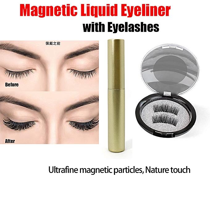 773271b5432 ... New Magnetic Liquid Eyeliner with Five Magnetic False Eyelashes  Waterproof Easy to Wear Magnetic Eyelashes Set ...