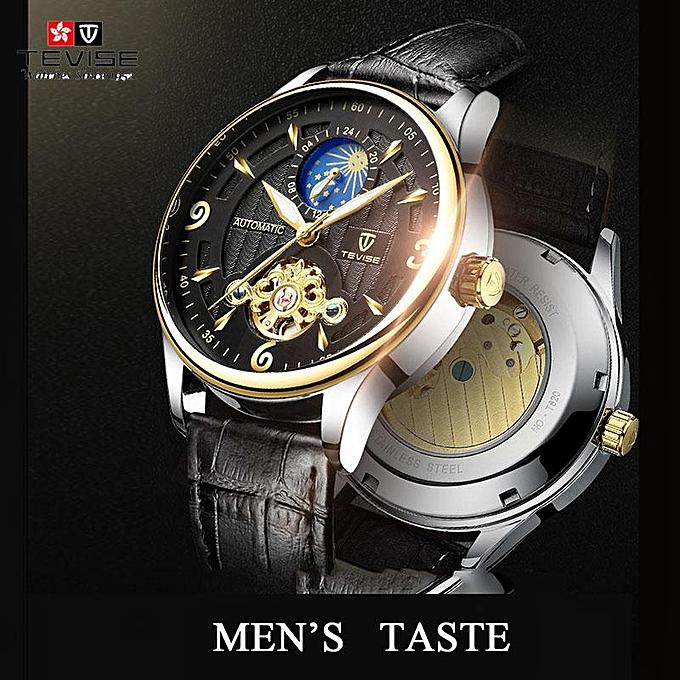 3d0628b9f7f 2018 New Tvise Brand Men Mechanical Wristwatch Fashion Luxury Clocks Man  Watches Automatic Watch Montre Homme