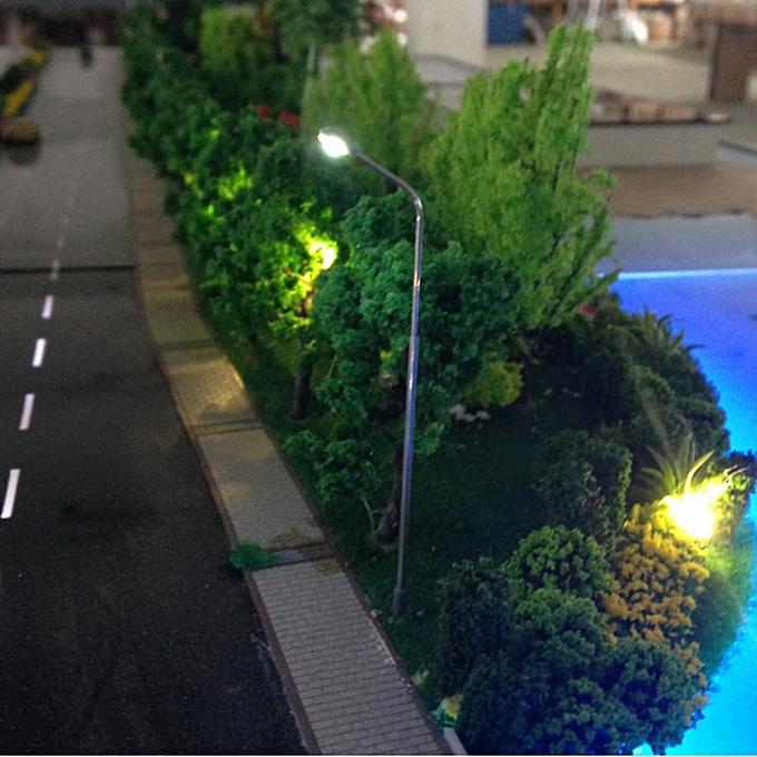 20Pcs Model Railway Train Lamp Post Street Lights HO OO Scale LEDs Gauge NEW