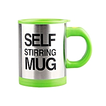 Stainless Lazy Self Stirring Mug Auto Mixing Tea Coffee Cup Office Home Gifts-Green
