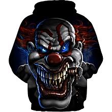 Stylish Men Casual 3D Clown Print Hoodies Sweatshirt