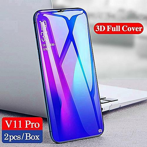 best service 1177e 6dd5b For VIVO V11 Pro Tempered Glass Screen Protector For Vivo V11 Pro 3D Full  Screen Cover Film