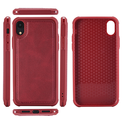 innovative design 98c0f 3281a Switch Wallet Magnetic Flip Phone Cases for Iphone XR-Red