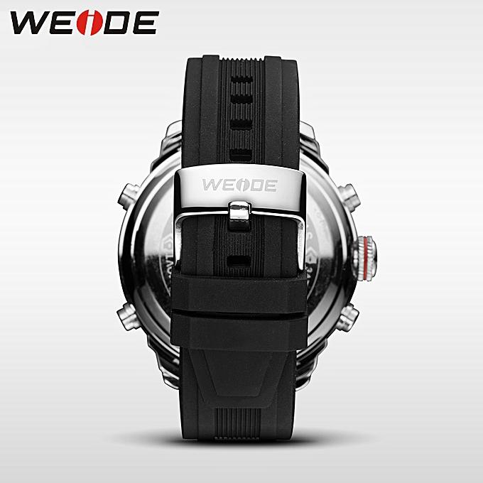 Weide Lcd Men Watch Sport Digital Luxury Brand Black Army Quartz Watches Water Resistant Schocker Fashion Casual Alarm Clock Men's Watches