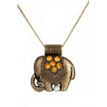 Jewelry Natural Bronze Elephant Necklace