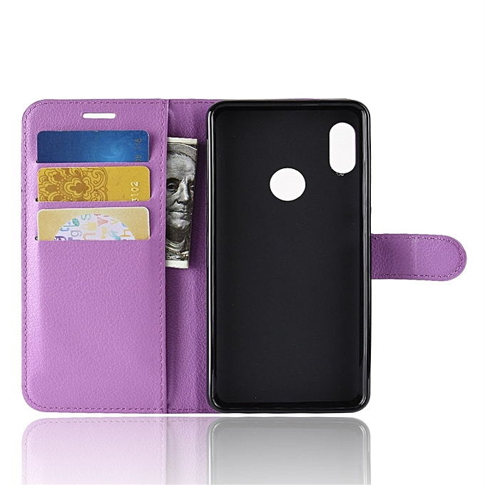 ... For Xiaomi Redmi Note 5 Pro Litchi Texture Horizontal Flip Protective Leather Case With Holder ...