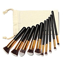 Eastman 10 Pcs Makeup Brushes Set Makeup Brushes Kit Draw String Makeup Bag Stylish