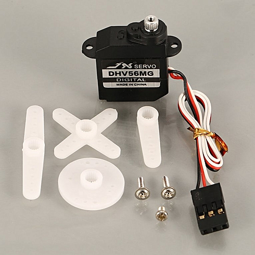 JX PDI-DHV56MG Mini Steering Digital Metal Gear Servo for?RC Fixed Wing  black