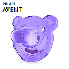 Philips AVENT Bear Shape Baby Girl Soothie Pacifier Orthodontic Nipple 0-3 month Purple